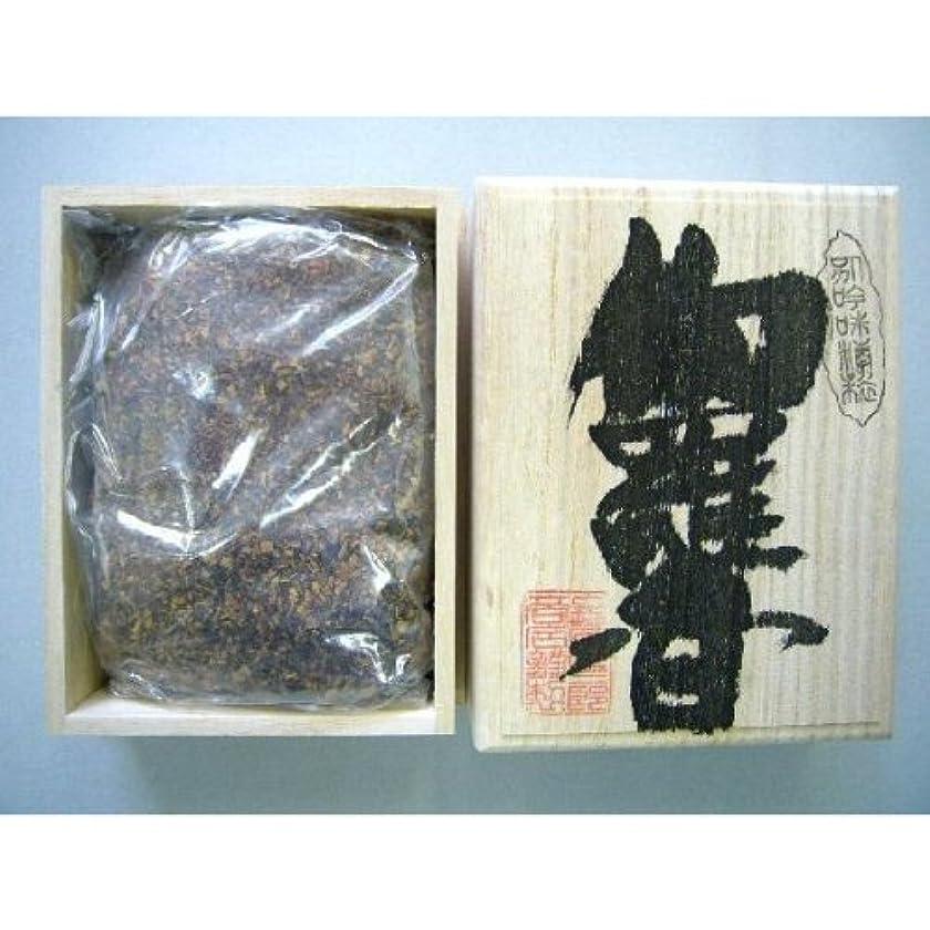 イル想像力和解する焼香 伽羅香120g桐箱入り 抹香