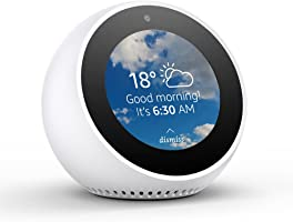 Amazon Echo Spot, Smart speaker and screen with Alexa - White