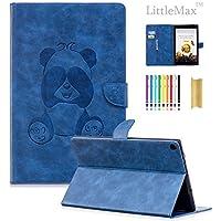 Fire HD 10ケース、LittleMax ( TM ) PUレザーパンダエンボス財布ケース保護自動ウェイク/スリープスマートカバーfor Amazon Kindle Fire HD 10.1インチ7th Gen & 5th Gen–# LittleMax