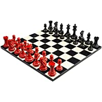 Purling Of London - Large Luxury Bold Chess Classic Red v Shadow Black - 4 Inch Weighted
