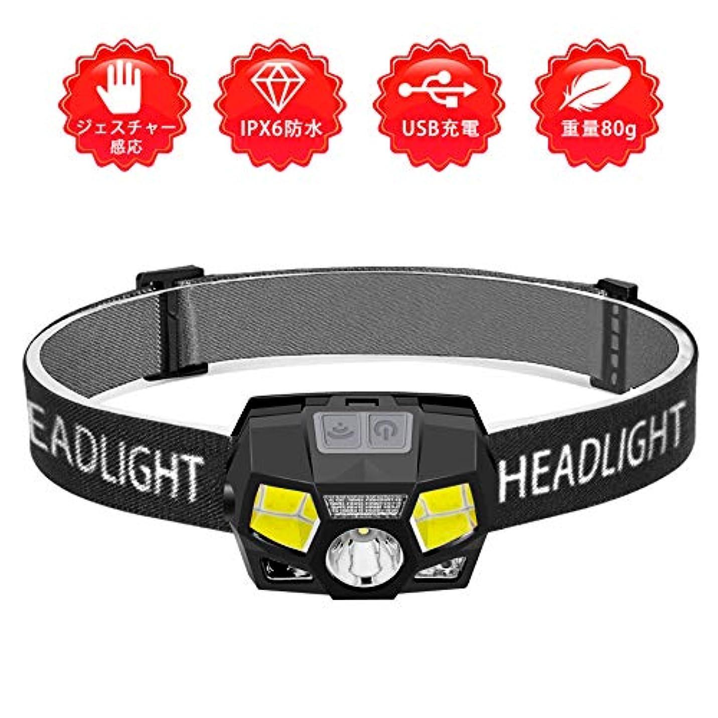 浪費動員する母音【充電式ヘッドライト】 LEDヘッドランプ 小型軽量 最高照度防水 登山/キャンプ/サイクリング/ハイキング/防災/夜釣り/非常時用