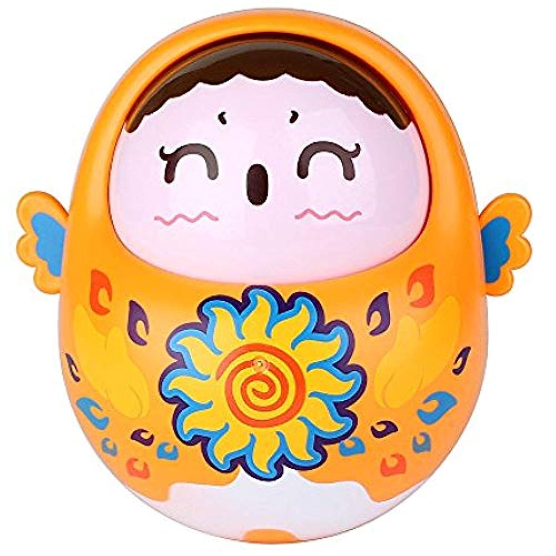 Anleo チャイミング ロールポリ おもちゃ 愛らしいタンブラー 人形 赤ちゃんのおもちゃ 揺れの関数とかわいいトーン付き 幼児と子供用 オレンジ Roly-poly Toy