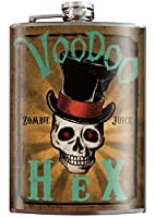Voodoo Hex Zombie Juiceスカルゴシックフラスコ–8オンスステンレス鋼フラスコ–Come In Aギフトボックス–by Trixie & Milo