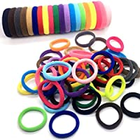Gillberry 50Pcs Women Girls Hair Band Ties Rope Ring Elastic Hairband Ponytail Holder New