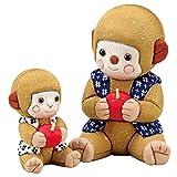 さるの親子 木目込み人形 材料セット(手芸材料・人形キット)