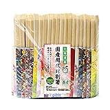 【国産間伐材割り箸】無添加天削げ箸8寸-きもの柄箸袋入り(100膳入)