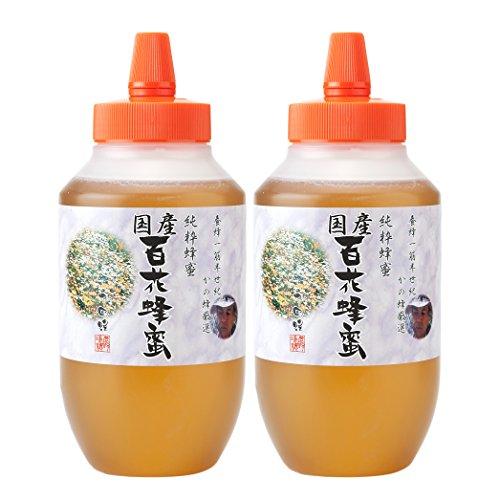 はちみつ 専門店 国産 百花 蜂蜜 1000g(1kg)×2本 完熟 の 純粋 蜂蜜 (とんがり容器)