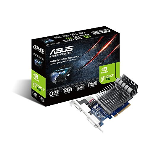 ASUSTek社製 Geforce GT710搭載ビデオカード ファンレス 710-1-SL-BRK