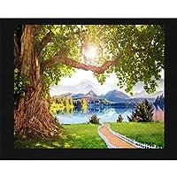 Lcymt カスタム3D壁画壁美しい湖観光風光明媚な壁画リビングルーム寝室テレビ背景装飾写真壁紙-350X250Cm