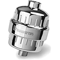 Beastron Ten Stage High Output Universal Shower Filter with Replaceable Multi-Stage Filter Cartridge - Chrome
