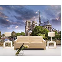 Mingld カスタム壁画3 D写真の壁紙ヨーロッパスタイルノートルダム・ド・パリ建築装飾3D壁壁画壁紙For壁3 D-250X175Cm