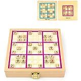数独パズル SUDOKU おもちゃ 子供 知育玩具 脳力トレゲーム 算数 (ブナ ピンク)