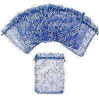 "Aspire 1000PCS Eyelash Organza Drawstring Pouches, 3 1/2"" x 4 3/4"" Royal Blue Jewelry Candy Bags"
