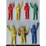 仮面ライダーb53-2当時物 消しゴム系 怪人 ヒーロー 人形 セット 1979年