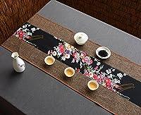テーブルランナー シグネチャーコットンテーブルランナー仏教ムードティーテーブルクッションエスニックスタイルテーブルフラッグベッドランナー ( 色 : Flower , サイズ さいず : 35*400cm )