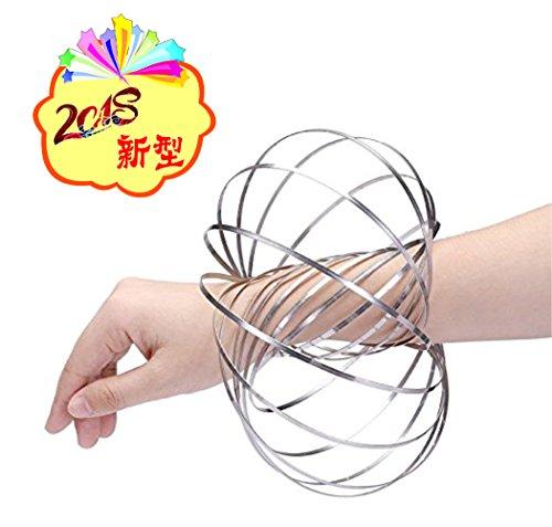 JHY マジックリング 腕輪 マジックブレスレット 3D Flow Ring キネティック スプリング おもちゃ 大人気 ス...
