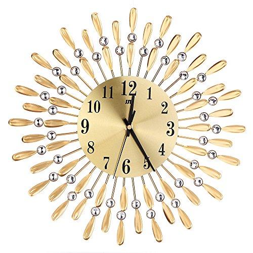 ボコダダ(Vocodada) 壁掛け時計 ホーム飾り欧式  ムードメーカー 模様替え プレゼント クロック オシャレ 欧風 田園 個性 大きな 鉄芸 金属 高級感 アナログ表示