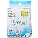 オーム電機 電球形蛍光灯 エコデンキュウ A形 E26 60形相当 昼光色 2個入 [品番]06-0260 EFA15ED/11-2PN