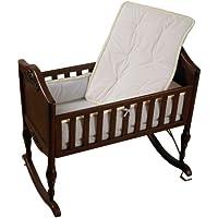 Baby Doll Bedding Minky Diamond Mini Crib/ Port-a-Crib Bedding Set, Ecru by BabyDoll Bedding