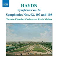 Joseph Haydn: Symphonies, Nos. 62, 107 and 108; Vol. 34 by JOSEPH HAYDN (2008-10-28)