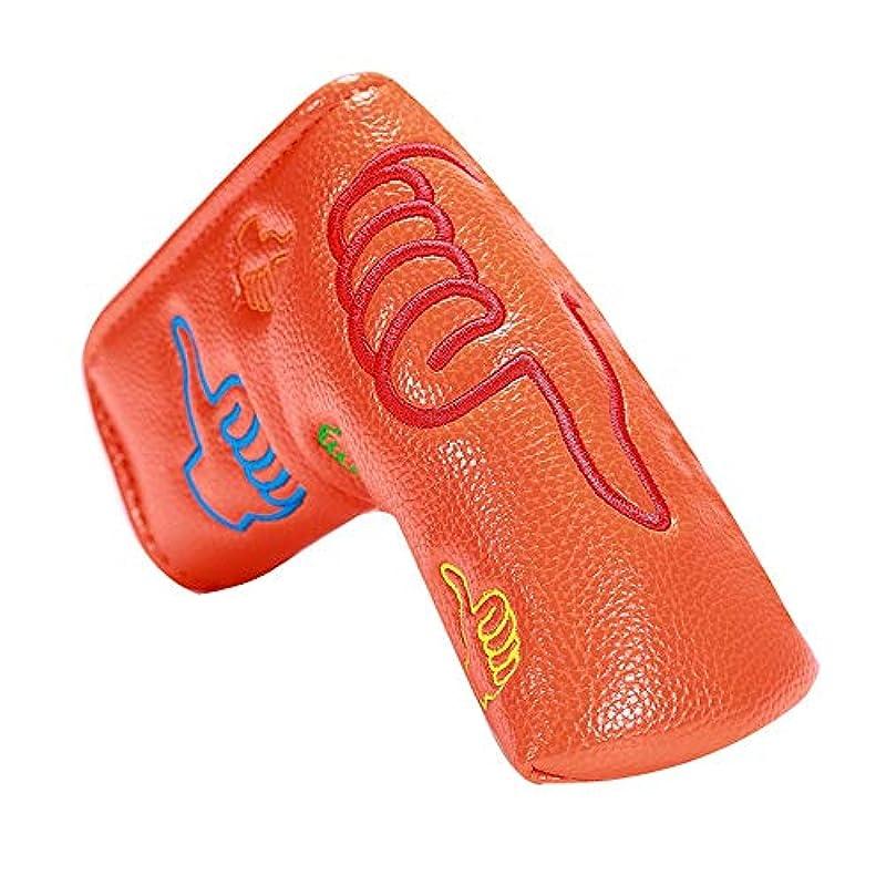 パスマウント埋めるゴルフパターヘッドギア ゴルフレザーパターセットL型クラシックデザインゴルフパターフード標準サイズレトロストレートバーパターカバー ウッドセットの人工皮革フェアウェイゴルフクラブセット (色 : C3, サイズ : Free)