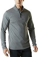 (テスラ)TESLA メンズ ウォームドライ 長袖 スポーツ シャツ 1/4ジップ [UVカット・防風・コールドプルーフ] プルオーバー HMKZ01 / YKZ01