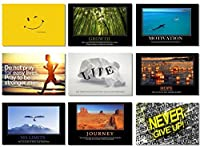 9x Poster Motivational Self Positive Office Quotes Inspirational Success Teamwork Dream Focus Responsibility Prints 30x20 (75x50cm) E397(19-27) by Smart Wall Station