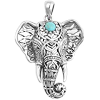Niome New Fashionable Women Beach Pendant Turquoise Elephant Necklace Jewelry