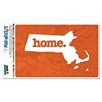 マサチューセッツ州MA ホーム州 MAG-NEATO'S(TM) ビニールマグネット - テクスチャオレンジ