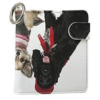 スマコレ IQOS専用 レザーケース 従来型/新型 2.4PLUS 専用 ケース カバー 合皮 カバー 収納 動物 犬 写真 009810