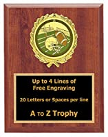 Fantasy Football Plaque Awards 5 x 7木製スポーツトロフィーTournament Trophies Free Engraving