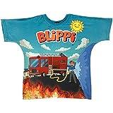 Blippi Child Firetruck Shirt for Kids