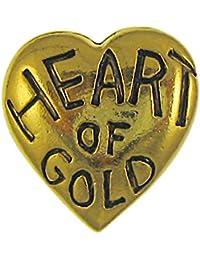 Heart of Goldゴールドラペルピン ゴールド