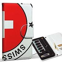 スマコレ ploom TECH プルームテック 専用 レザーケース 手帳型 タバコ ケース カバー 合皮 ケース カバー 収納 プルームケース デザイン 革 スイス 外国 国旗 011643