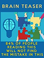 """Brain Teasers: Puzzle Brain Teasers Paper Blank Notebook Journal 8.5x11"""" 150 Pages 