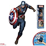 """Marvel Captain America Augmented Reality 27"""" Deluxe Wall Decal Peel & Stick Removable Vinyl"""