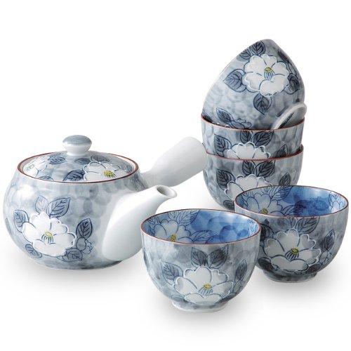 有田焼 茶器の魅了を味わえる 一珍山茶花 急須茶器セット ama-631477