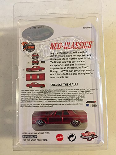 2014ホットWheels RLC ' 64 Dodge 330 neo-classics (シリーズ13 ) ( only 3000 Made ) ( Redline ) 2 / 4