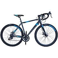 TRINX(トリンクス) 【ロードバイク】ダブルディスクブレーキ Shimano シマノ21Speed 軽量 アルミフレーム700C TEMPO1.1-18ディスクブレーキロードエントリーモデル TEMPO1.1 グレー/ブルー 500mm