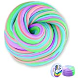 Meland Fluffy Slime 6 oz Jumbo Fluffy Floam Slime Stress Relief Toy Scented Sludge Toy for Kids and Adults, Super Soft and Non-Sticky, ASTM Certified, 4 Colors