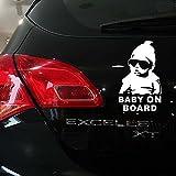 Koya セーフティーサイン BABY ON BOARD  赤ちゃん 乗車中 ステッカー シール デカール 夜間 反射 運転 安全 外貼り タイプ 取り付け 簡単 防水 (シルバー)