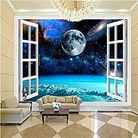 Jason Ming カスタム壁画写真の壁紙3Dウィンドウスペース惑星地球壁絵画寝室リビングルームの壁紙家の装飾壁紙-200X140Cm