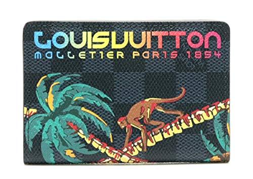 [ルイ ヴィトン] LOUIS VUITTON ダミエコバルト オーガナイザー ドゥ ポッシュ カードケース 名刺入れ パスケース ジャングル N63508 [中古]