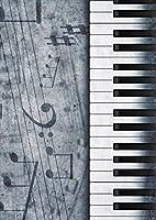 igsticker ポスター ウォールステッカー シール式ステッカー 飾り 728×1030㎜ B1 写真 フォト 壁 インテリア おしゃれ 剥がせる wall sticker poster 008223 クール 音符 楽譜 ピアノ モノクロ