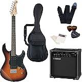 エレキギター ヤマハ PACIFICA120H ヤマハアンプ GA15II 付属 入門8点セット 初心者セット ハムバッキング トレモロレス (TBS)