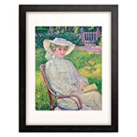 テオ・ファン・レイセルベルヘ Theo van Rysselberghe 「La dame en blanc」 額装アート作品