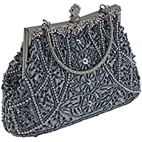 FITYLE Women's FauxPearl Shiny Evening Bag Clutch Bridal Wedding Purse Shoulder Prom