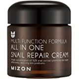 MIZON Snail Repair Cream 2.53 Oz, Face Moisturizer With Snail Mucin Extract, All In One Snail Repair Cream, Recovery Cream, K