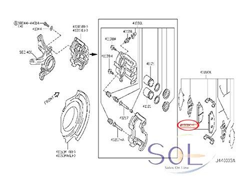 NISSAN ニッサン フーガ(Y50) ティアナ(J31 J32 PJ31 PJ32 TNJ31 TNJ32) プリメーラ(P12/4WD) プレサージュ(U31) ステージア(AM35 M35) リア ブレーキパッド 左右セット AY060-NS026 AY060-NS045(AY060NS045)