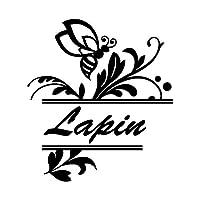 ハニービー Lapin ラパン カッティング ステッカー ブラック 黒